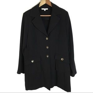 Cabi #190 Coat Black Military Look Bronze Buttons